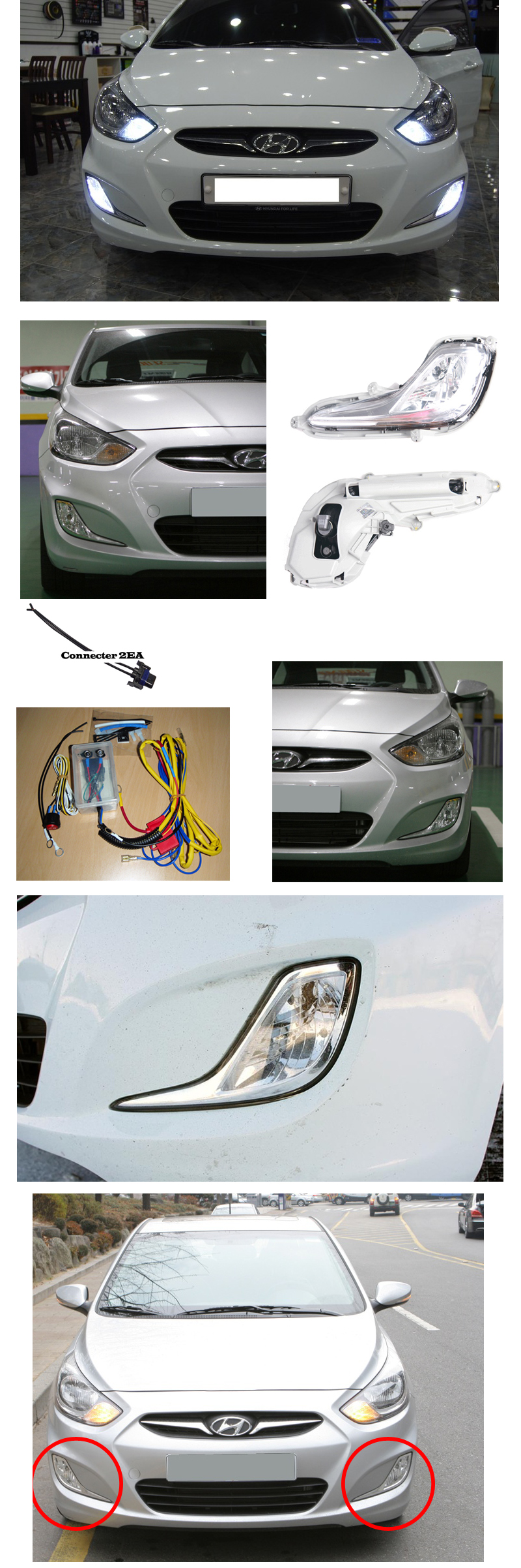 Hyundai santa fe fog light and wiring harness chevy