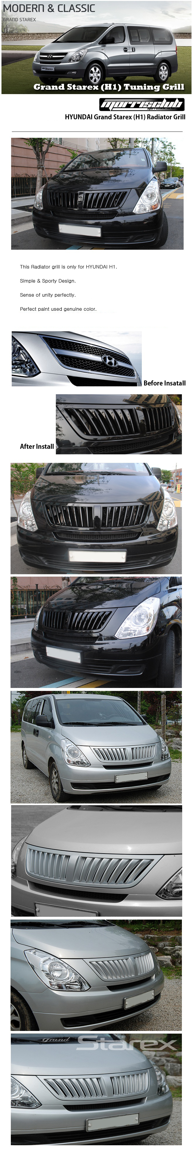 Front Radiator Sport Tuning Grill Painted For 07~13 ...