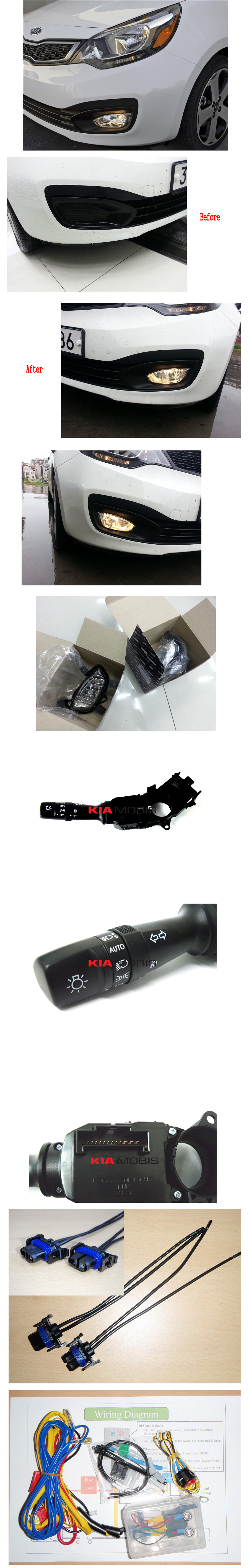 Fog Lamp Light Harness Mf Switch Complete Kit For 2012