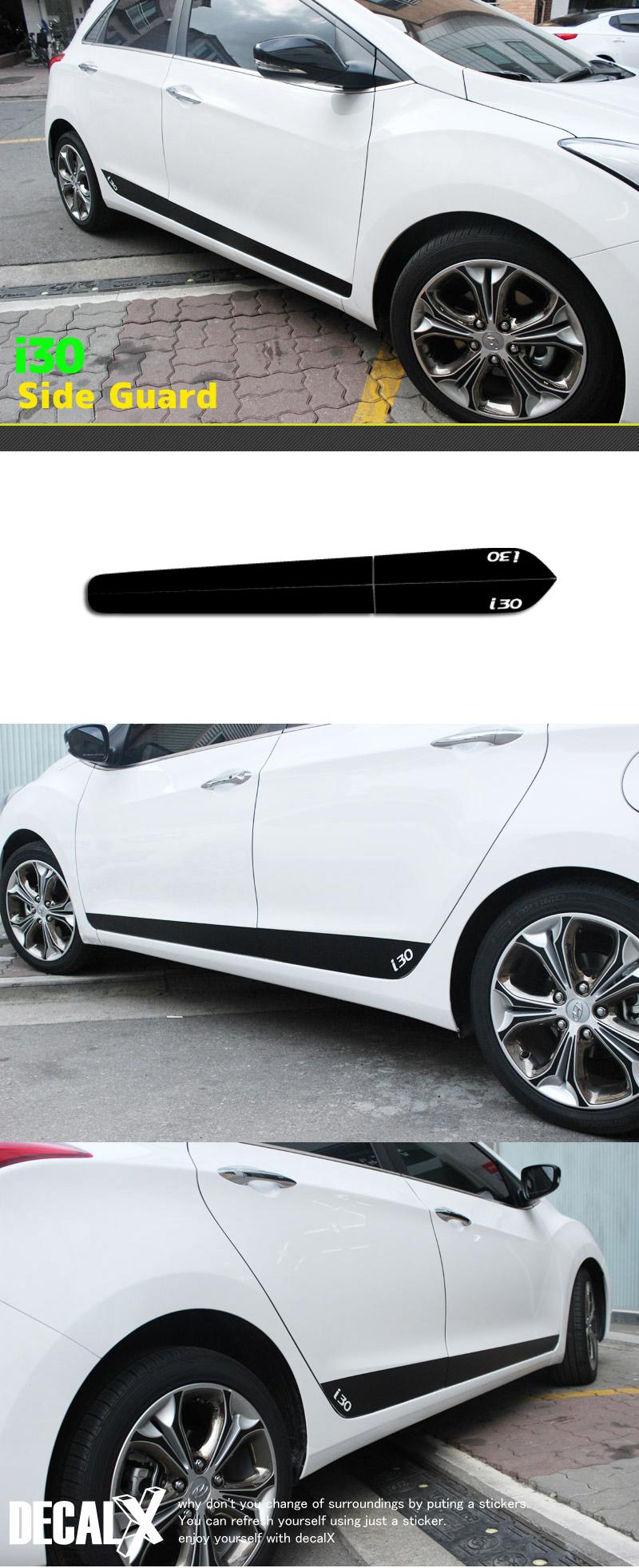 Black Door Side Decal Sticker For Hyundai 2012 2015 I30